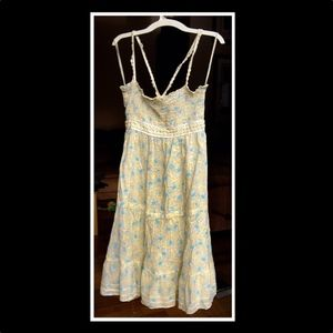Free People Yellow Floral Baby Doll Dress SzS